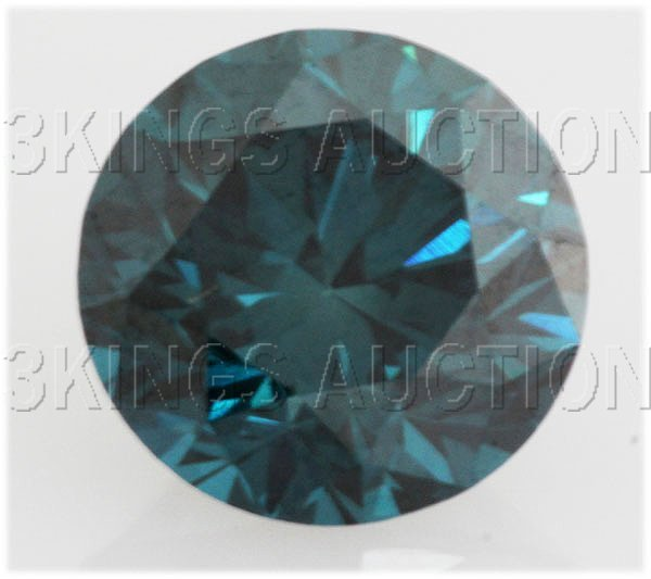 6.8mm-1.31 cts. Loose Sky Blue Diamonds Round, SI