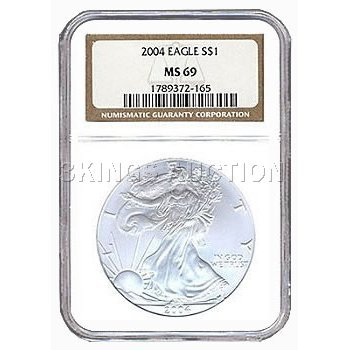 Certified Proof Silver Eagle PF69 2004