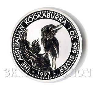 Australian Kookaburra 1 oz. Silver 1997