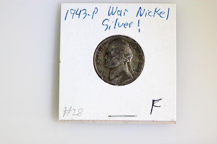 1943-P Silver War Nickel (F) - 3 pcs.