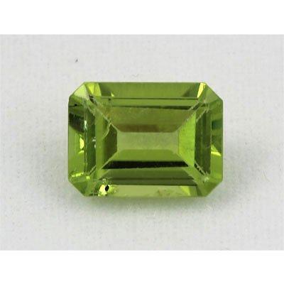 12.92ctw Emerald Cut Peridot Natural Gemstone, 8x6mm