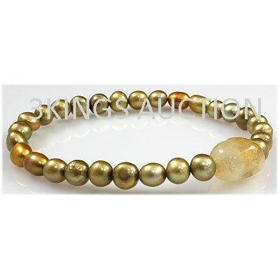 81.92ctw Natural Rice Freshwater Pearls Bracelet