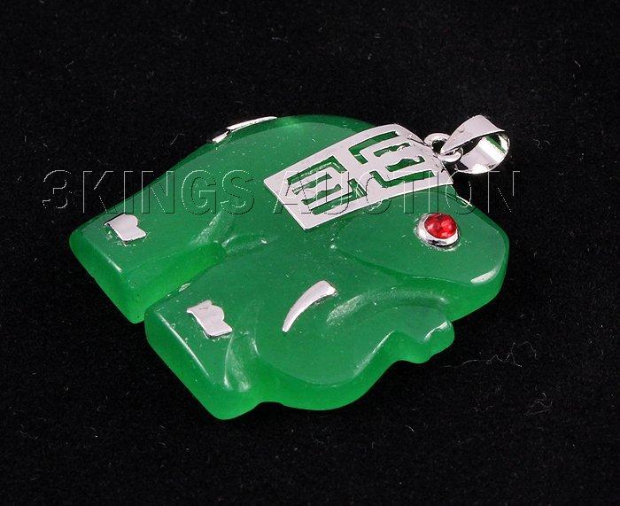 Genuine 30.85ctw Elephant Jade Pendant