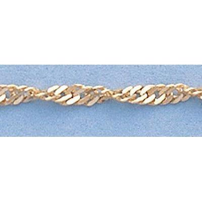 "Pure Gold 16"" 14k Singapore Gold-Yellow 1.8mm Chain2.5g"