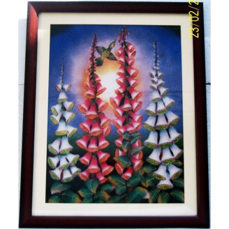 2D Humming Bird on the Bell GemPainting size 24in.x30in