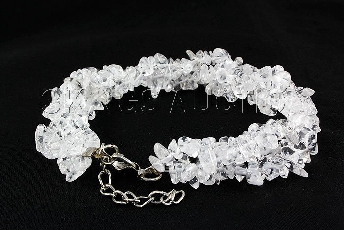 193.47CTW 7in. CRYSTAL CLEAR CHIPPED STONE BRACELET MET