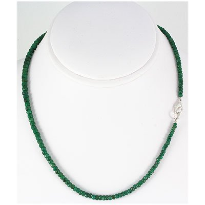 83.72ct Natural Emerald Micro Faceted Necklace