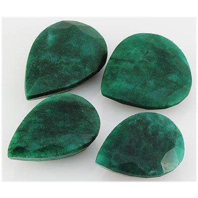 Emerald 457.5ct Loose Gemstone Mix Sizes Pear Cut
