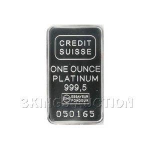 Credit Suisse One Ounce Platinum Bar .9995