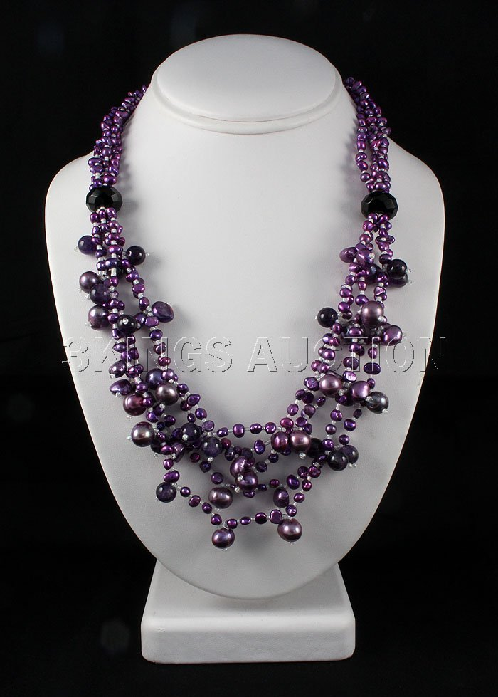 Pearls and Beads 550.72ctw Necklace w/ Metal Lock