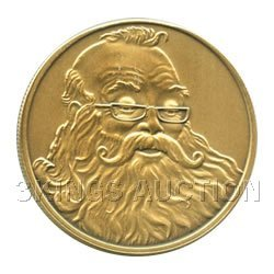 Christmas 2011 Bronze Round X-9 Santa (with ornament ho