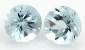 7mm GENUINE FACETED AAA - NATURAL AQUAMARINE