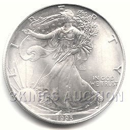 Uncirculated Silver Eagle 1993