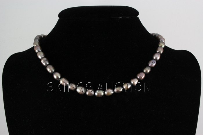 """173.52CTW 18"""" BLACK FRESHWATER PEARL NECKLACE METAL LOC"""