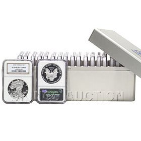 Certified Complete Set Proof Silver Eagles 1986-2011 PF