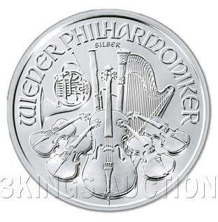 One Ounce Austrian Philharmonic Silver 2008