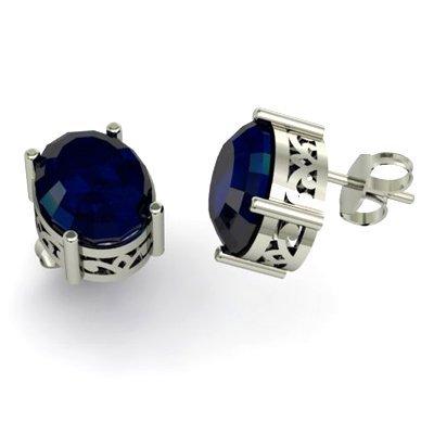 Sapphire 4.40ctw Earring 14kt White Gold