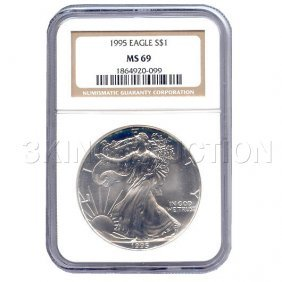 Certified Uncirculated Silver Eagle 1995 MS69