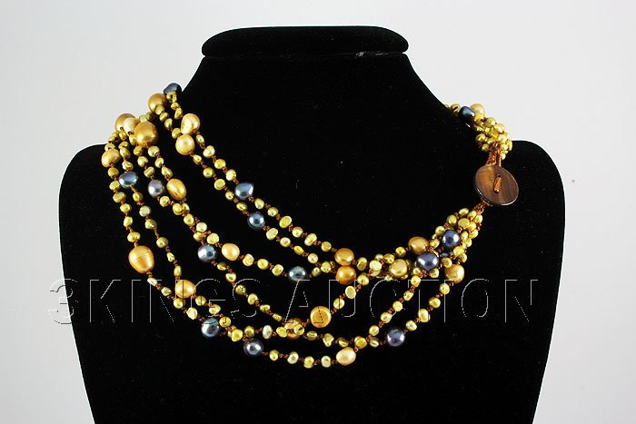 470.87CTW 18in. FRESHWATER MULTI-COLOR NECKLACE