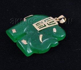 Genuine 26.88ctw Elephant Jade Pendant