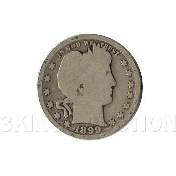 Early Type Barber Quarter 1892-1899 G-VG