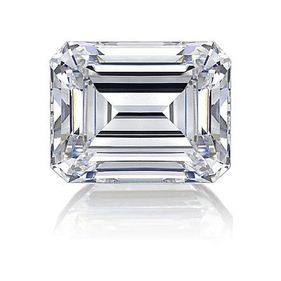 EGL USA 0.80ct Certified Emerald Brilliant Diamond D,Si