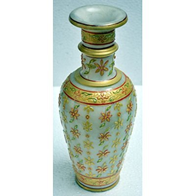 Marble Golden Color Flower Vase size 12in.