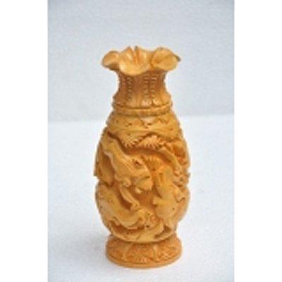 Haldu Wood Flower Vase size 8in.x4in.
