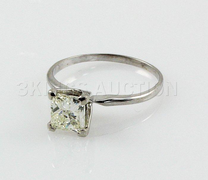2.63 ctw Princess Cut Brilliant Diamond, G, SI1,14Kt WG