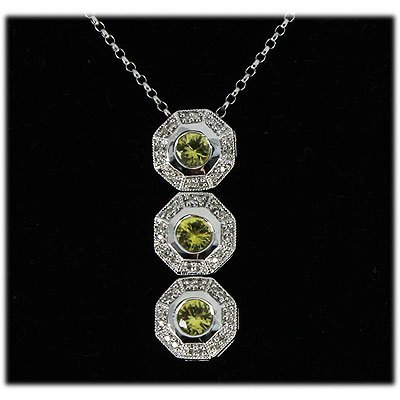Genuine 0.88ctw Yellow Sapphire Diamond Necklace 14k