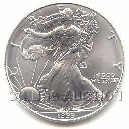 Uncirculated Silver Eagle 1999