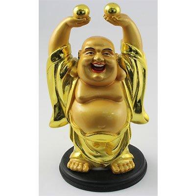 Happy Golden Brass Buddha Symbols for Good Year Life