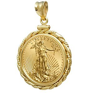 2012 1/4 oz Gold Eagle Pendant (Fancy Cable-ScrewTop Be