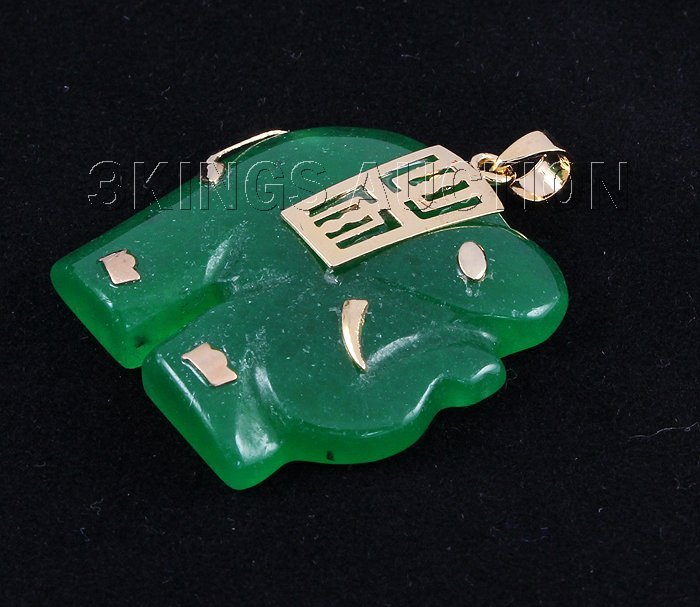 Genuine 28.73ctw Elephant Jade Pendant