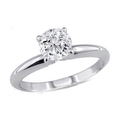 1.50 ct Round cut Diamond Solitaire Ring, I-J, SI2