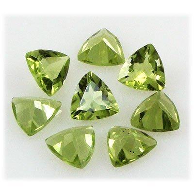 Peridot 5.32 ctw Loose Gemstone 6x6mm Trillion Cut