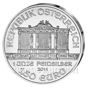 One Ounce Austrian Philharmonic Silver 2011