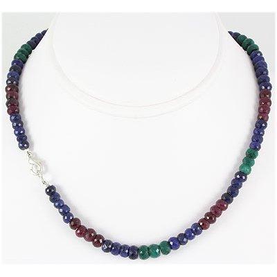 189.31ctw Natural Multi-Color Rondelles Necklace