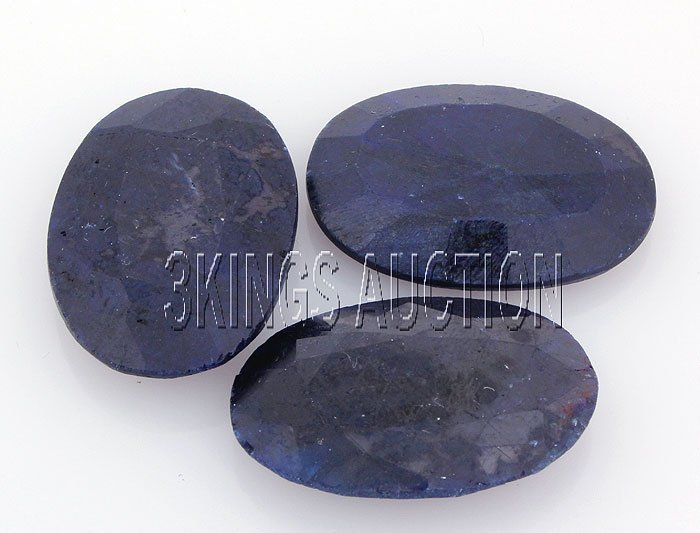 117.18ctw SapphireOvalCutLooseGemstone lotof3