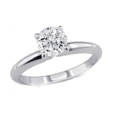 0.60 ct Round cut Diamond Solitaire Ring, G-H, SI2