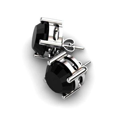 Black Diamond 8.00ctw Earring 14kt White Gold