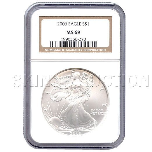 Certified Proof Silver Eagle PF69 2006
