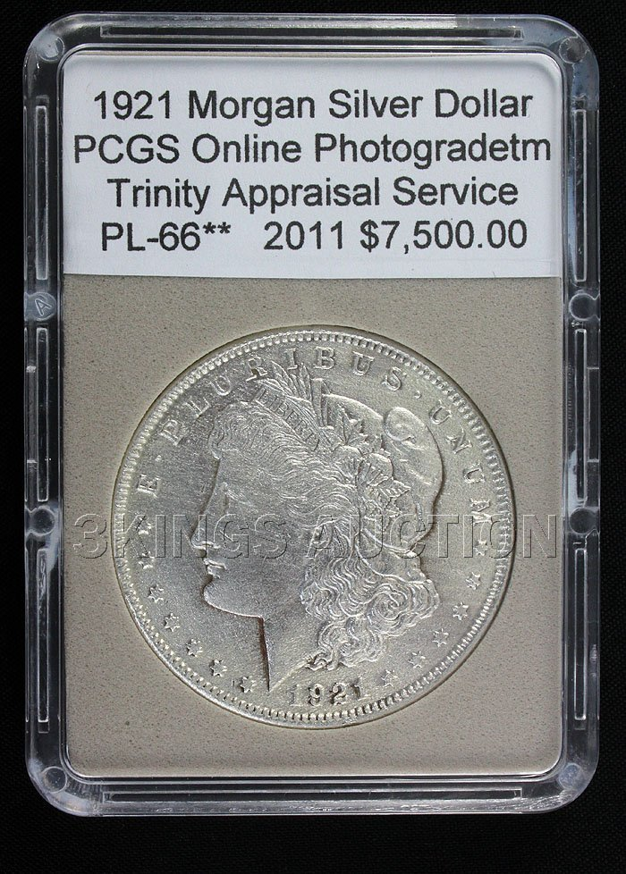 1921 Peace Dollar PCGS Online Photograph (Certificate o