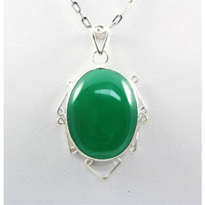 42.5ctw Aventurine Green Silver Pendant