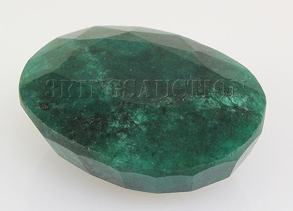 Emerald 134.24ctw Loose Gemstone 39x30x16mm Oval Cut