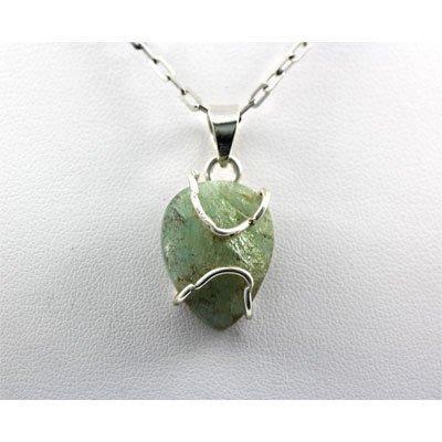 22.5ctw Prehnite Silver Pendant