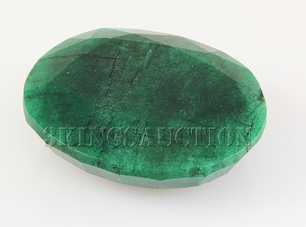 Emerald 194.17ctw Loose Gemstone 44x38x14mm Oval Cut