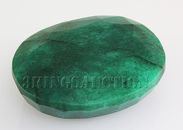 Emerald 217.17ctw Loose Gemstone 46x35x16mm Oval Cut