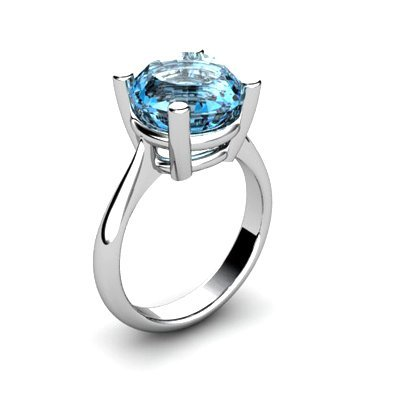 Topaz 5.75ctw Ring 14kt White Gold