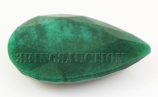 Emerald 145.32ctw Loose Gemstone 50x36x12mm Pear Cut